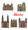 travel landmark of mexican tousrist sights icon vector image