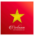 vietnam happy independence day red abstract vector image