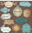 Wedding Vintage Frames and Design Elements vector image vector image