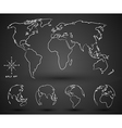 world map2 vector image vector image
