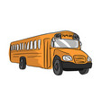 yellow school bus sketch hand drawn vector image vector image