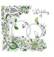 Zen Tangle Wedding rings in vector image