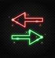neon sparkling arrows vector image