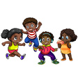 African American boys and girls vector image vector image