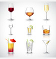 Alcohol Realistic Set vector image vector image