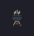 barbecue computer symbol vector image vector image