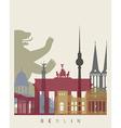 Berlin skyline poster vector image vector image