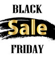 black friday design template sale square banner vector image