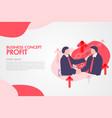 business men shaking hands concept profit vector image vector image