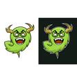 cartoon horned monster troll character in glasses vector image vector image