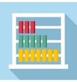 Children abacus icon flat style vector image vector image