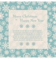 Christmas card with snowflakes vector image vector image