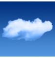 Cloud in sky vector image vector image