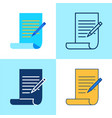 copywriting icon set in flat and line style vector image