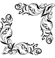 corner element vignettes ornate frame vector image