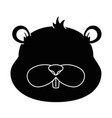 cute beaver character icon vector image vector image