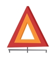 Emergency warning triangle vector image vector image