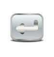 Enter icon metal button vector image