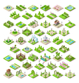 Game Set 13 Building Isometric vector image vector image