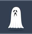 ghost halloween character vector image vector image