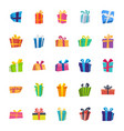 gift box flat icons pack vector image vector image