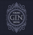 gin strong drink label design template patterned vector image vector image