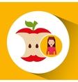 girl cartoon recycle icon organic vector image vector image