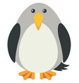 gray bird with happy face vector image vector image