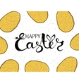 Handmade background with yellow eggs and wishing vector image