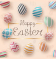 happy easter realistic egg template vector image