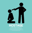 Hostage Graphic Sign vector image vector image