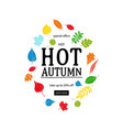 hot autumn sale advertisement banner vector image vector image