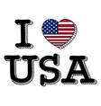 i love usa flag vector image