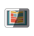Isolated ebook design vector image vector image