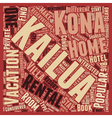 Kailua Kona Rentals What Are They text background vector image vector image