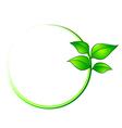 leaves environment frame vector image