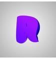 Letter R comic style font EPS10 vector image
