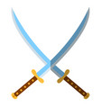 medieval sword icon and label flat style logo vector image vector image