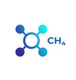 methane molecule ch4 icon on white vector image