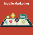 Mobile marketing and personalizing Smartphone with vector image vector image