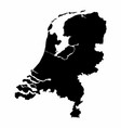 netherlands silhouette map vector image vector image