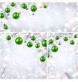 new year backgrounds with green christmas balls vector image vector image