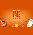 orange web banner for autumn sale vector image vector image