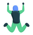 outdoor parachuting icon cartoon style vector image vector image