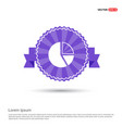 pie chart - purple ribbon banner vector image