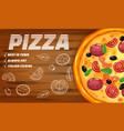 pizza pizzeria italian horizontal template flyer vector image vector image