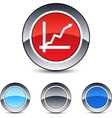 positive trend round button vector image