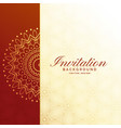 premium invitation luxury background design vector image