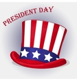 Presidents Day background with Patriotic Uncle Sam vector image vector image