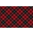 Pride of wales fabric diagonal textures red tartan vector image vector image